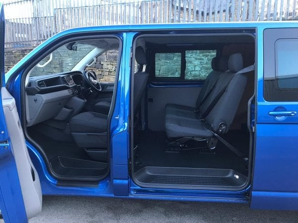 Blue Transporter T6 For Lease front Interior