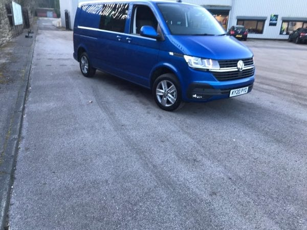 Blue Transporter T6 For Lease front side