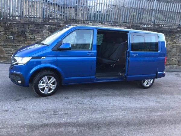 Blue Transporter T6 For Lease Side